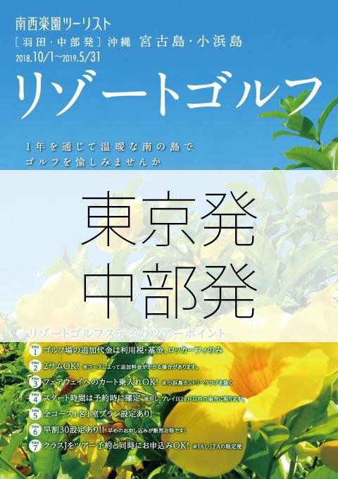リゾートゴルフ東京中部発パンフレット画像